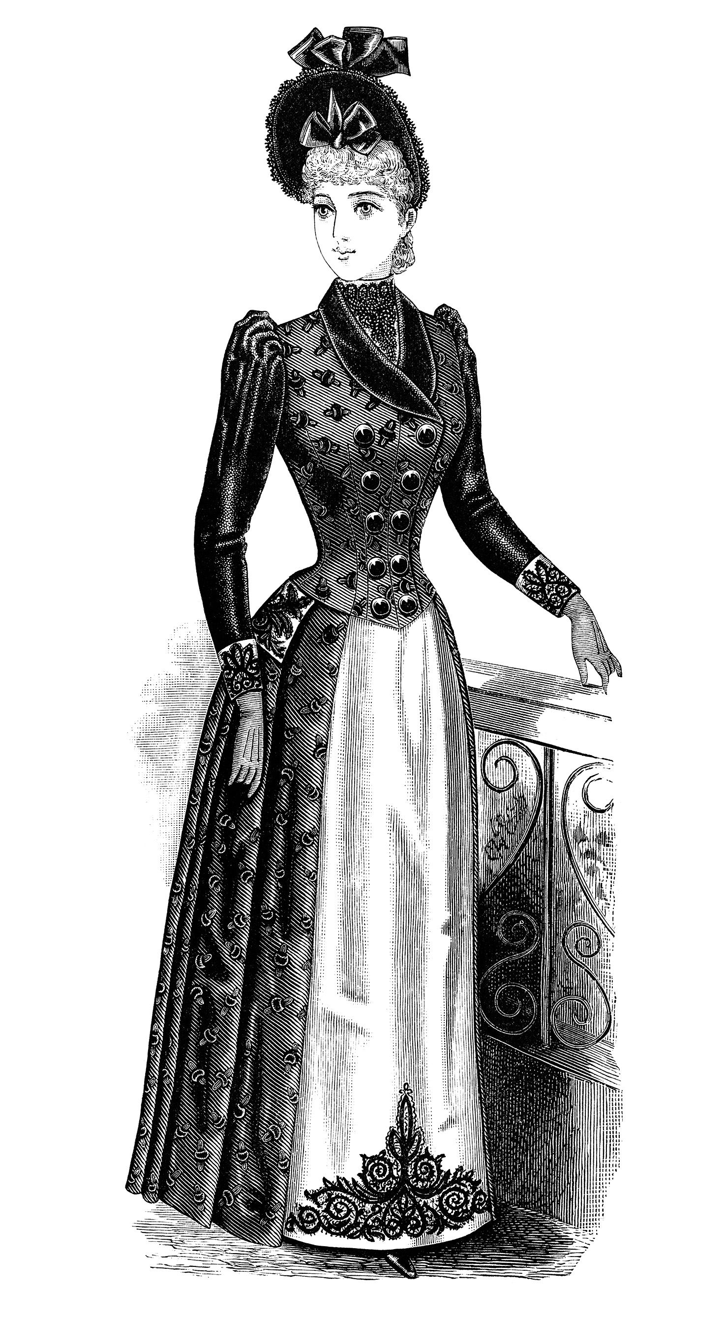 Antique woman clipart image royalty free stock victorian lady clipart, black and white clip art, free vintage ... image royalty free stock