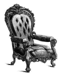 Antiques furniture clipart clipart freeuse download vintage chair clip art, black and white clipart, antique chair ... clipart freeuse download
