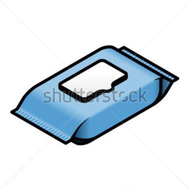 Antiseptic wipes clipart clipart Un Paquet DE Lingettes Humides / Image Vectorielle - Free Clipart clipart