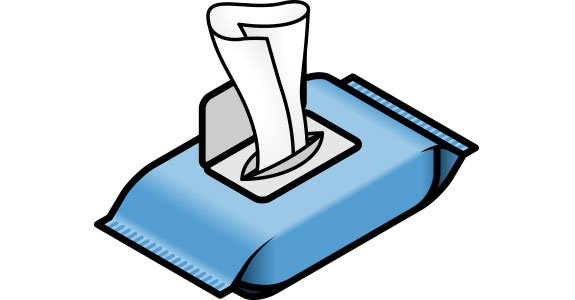 Antiseptic wipes clipart clipart black and white Wipe Counter Clipart - Free Clipart clipart black and white