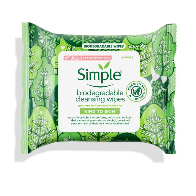 Antiseptic wipes clipart clip art royalty free Kind To Skin Biodegradable Cleansing Wipes | Simple® Skincare clip art royalty free