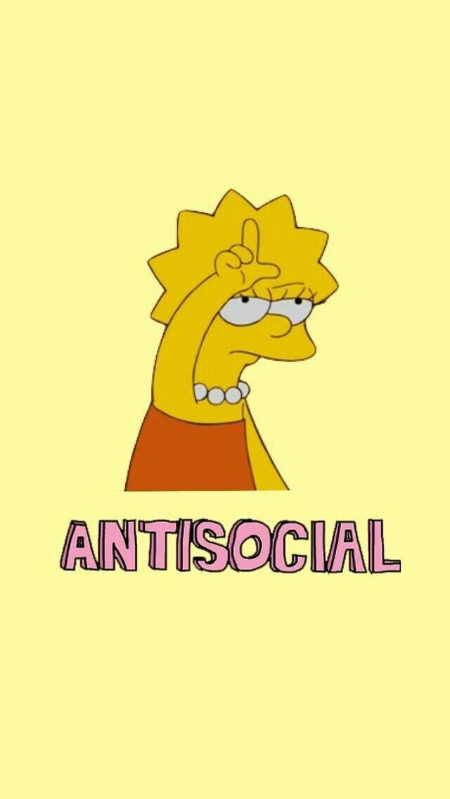 Antisocial clipart image library antisocial//take the L//Lisa Simpson// the simpsons//mood ... image library