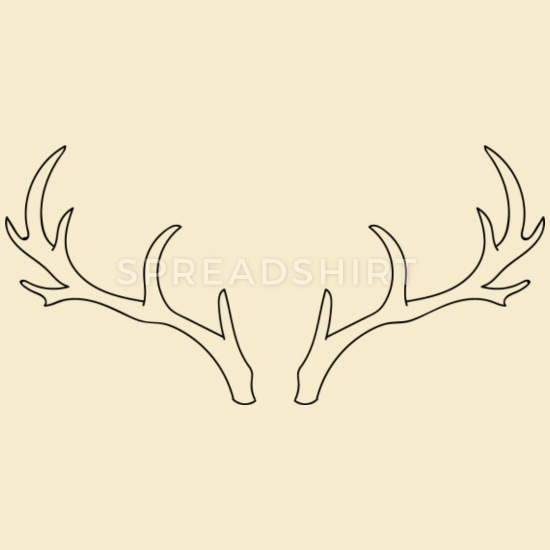 Antler and cotton clipart graphic Deer Antlers Scatch, Cotton Drawstring Bag | Spreadshirt graphic