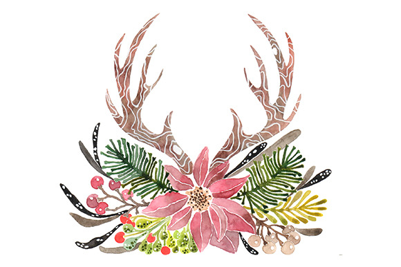 Antler floral clipart clip art library stock Free Flower Antler Cliparts, Download Free Clip Art, Free Clip Art ... clip art library stock