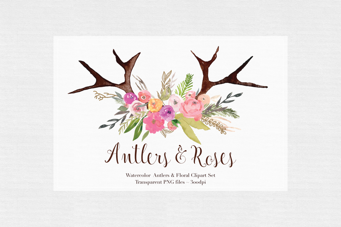Antler floral clipart png free library Free Flower Antler Cliparts, Download Free Clip Art, Free Clip Art ... png free library