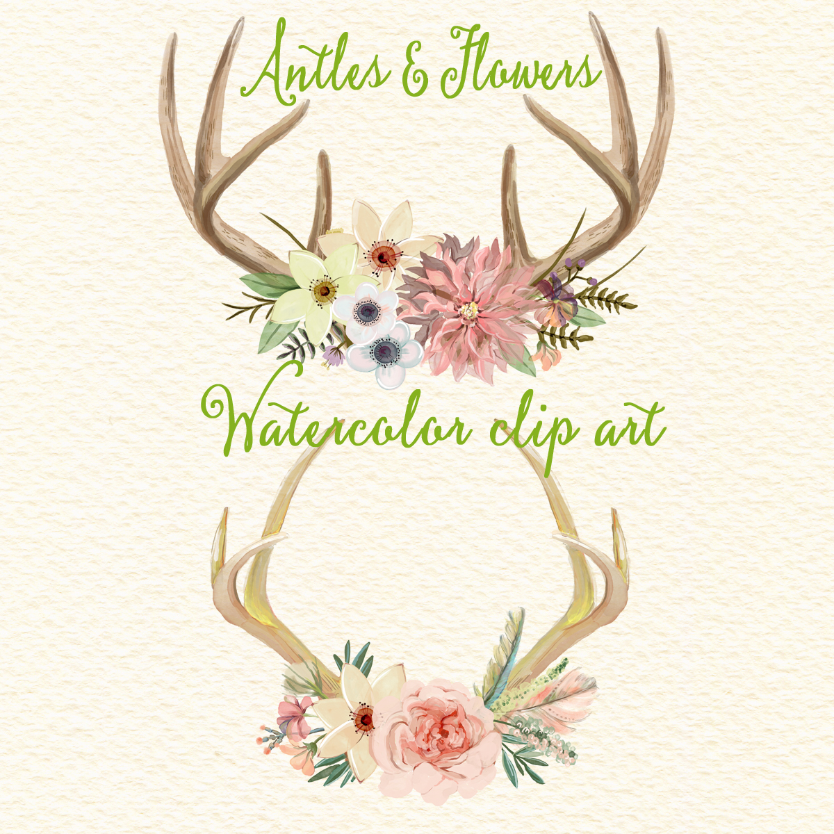 Watercolor antler clipart picture freeuse download Free Flower Antler Cliparts, Download Free Clip Art, Free Clip Art ... picture freeuse download