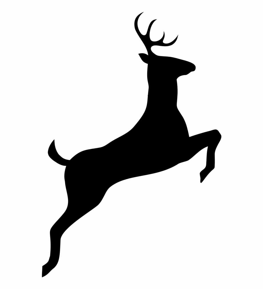 Antlered deer jumping clipart free png free Leaping Deer Silhouette - Nara Free PNG Images & Clipart Download ... png free