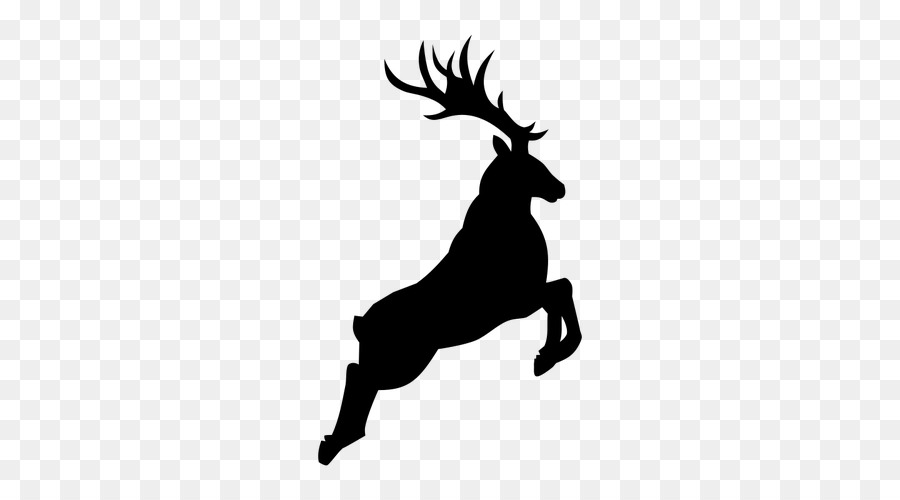 Antlered deer jumping clipart free graphic royalty free library Reindeer Antler Silhouette H&M Clip art - jumping deers png download ... graphic royalty free library