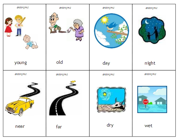 And synonyms word lists. Antonyms examples clipart