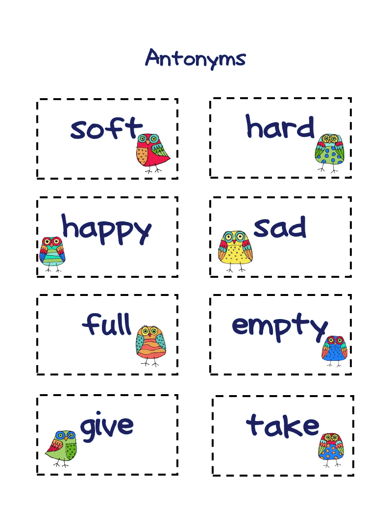 Antonyms examples clipart.  best images about