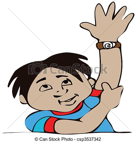 Vector illustration of boy. Antworten clipart