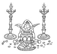Tamil Wedding Invitation Symbols. Scroll Wedding Invitations ... clip