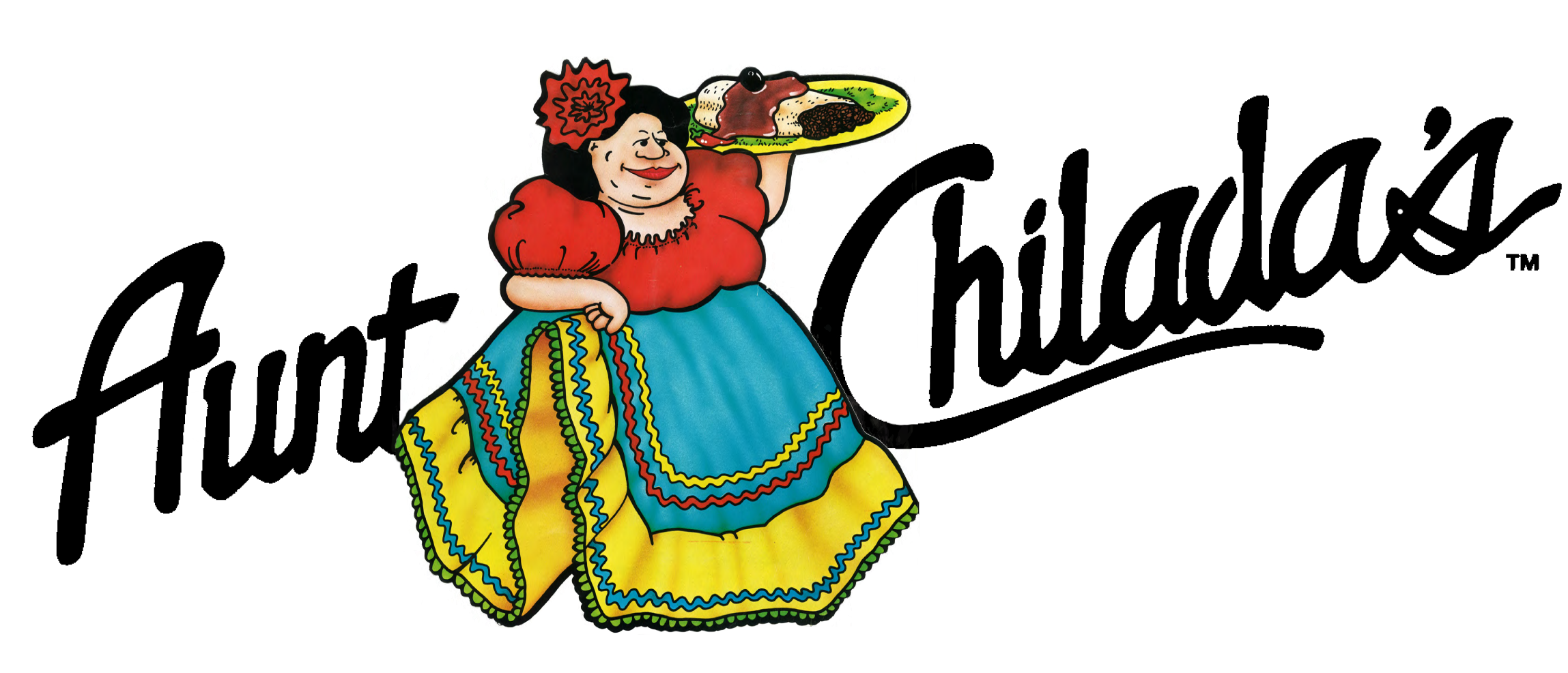 Anut in jeans clipart picture black and white Aunt Chiladas   Phoenix Arizona   Mexican Food   Event Venue & Catering picture black and white