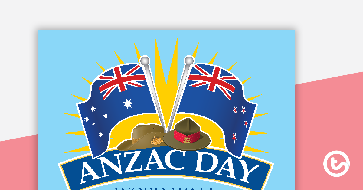 Anzac day 2018 clipart banner download ANZAC Day Word Wall Vocabulary banner download
