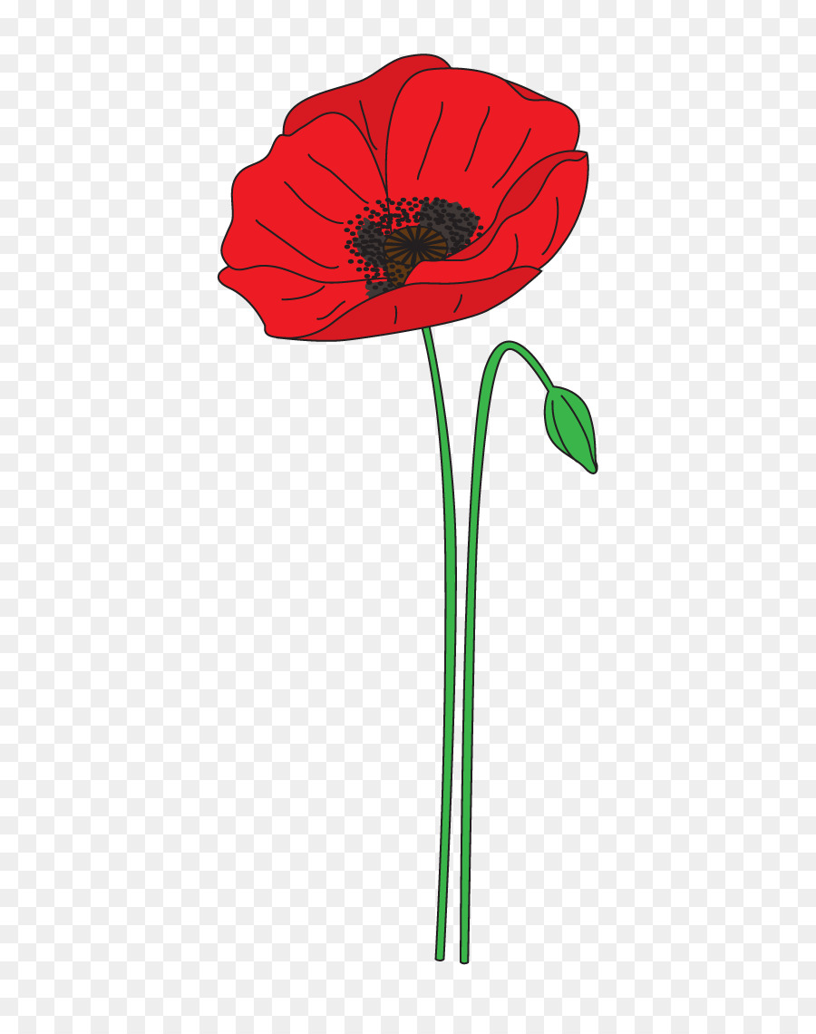 Poppy clipart remembrance day graphic black and white download Anzac Day Flower png download - 539*1123 - Free Transparent Poppy ... graphic black and white download