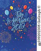 A+-o nuevo 2019 clipart clipart freeuse Ano Nuevo Clip Art - Royalty Free - GoGraph clipart freeuse