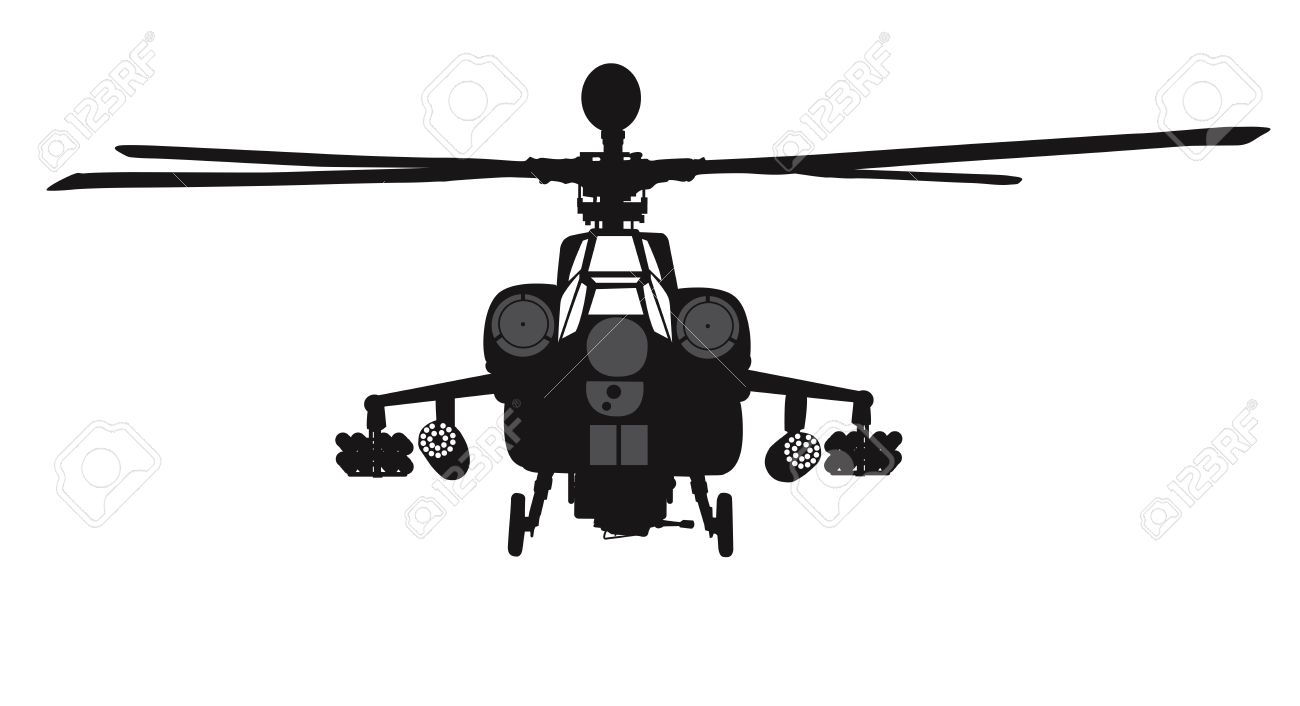 Apache attack helicopter clipart vector freeuse Military Helicopter Silhouette | Free download best Military ... vector freeuse