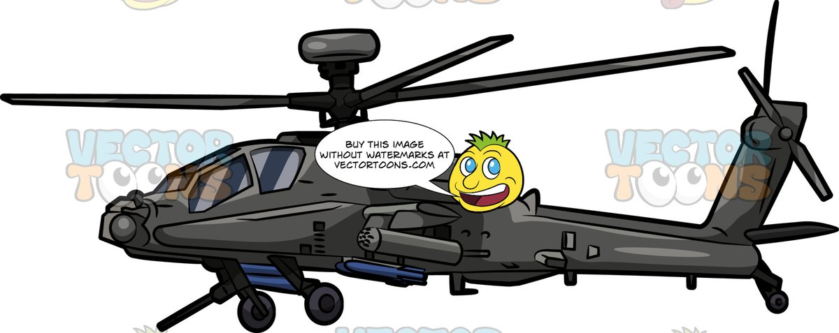 Apache attack helicopter clipart image royalty free stock A Boeing Ah64 Apache Helicopter image royalty free stock