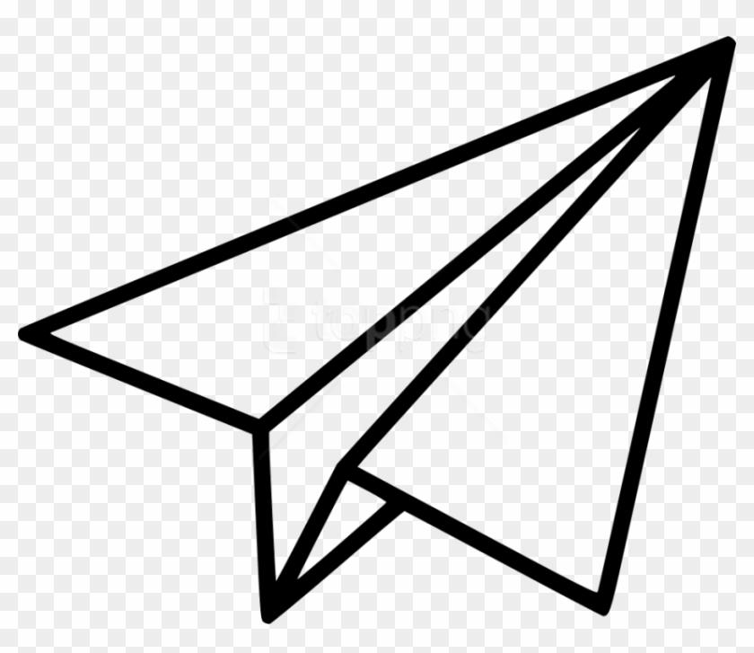 Apaper airplane clipart transaprent clipart stock Free Png Download Black Shape Paper Plane Clipart Png - Paper ... clipart stock