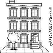 Apartment block clipart jpg royalty free stock Apartment Building Clip Art - Royalty Free - GoGraph jpg royalty free stock