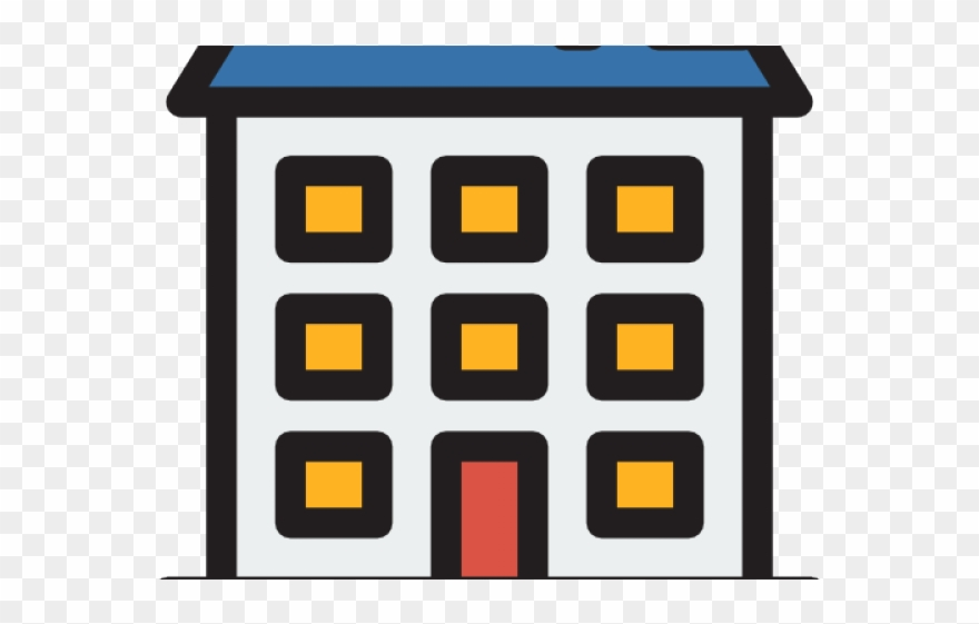 Apartment block clipart graphic royalty free download Apartment Complex Clipart Residential Building - Icon - Png Download ... graphic royalty free download