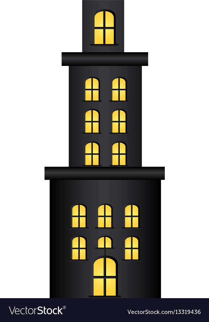 Apartment clipart many floors graphic library Apartment residence with several floors graphic library