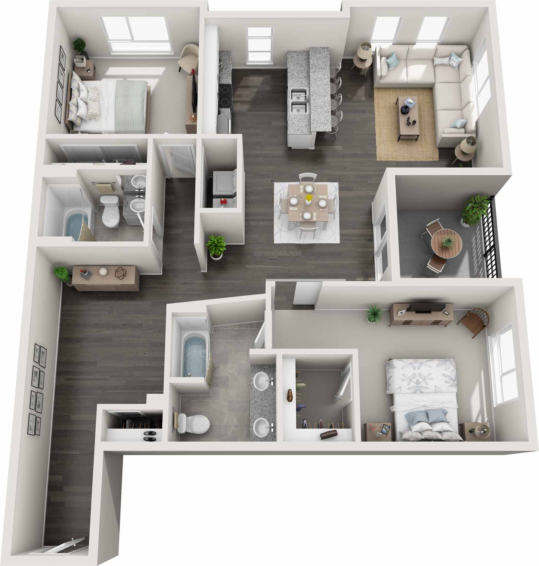 Apartment clipart two bedroom graphic freeuse Gardens at Cherry Creek   Luxury Pet-Friendly Apartments in Denver ... graphic freeuse