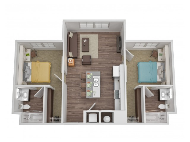 Apartment clipart two bedroom clipart library Floor Plans in Waco, TX - Ursa Apartments clipart library