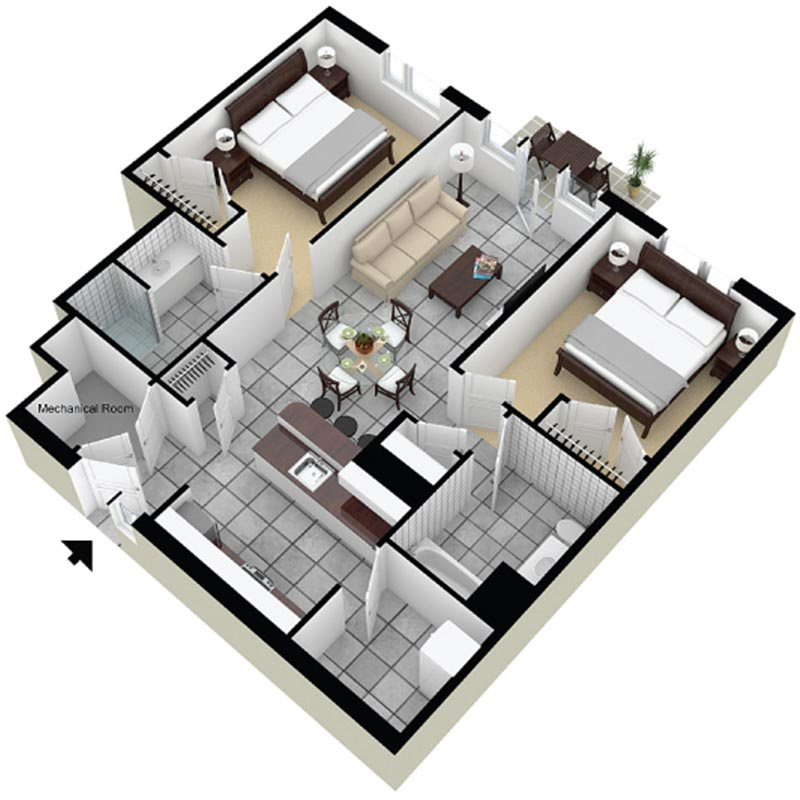 Apartment clipart two bedroom clip freeuse stock Floor Plans - Erie Harbor Apartments clip freeuse stock