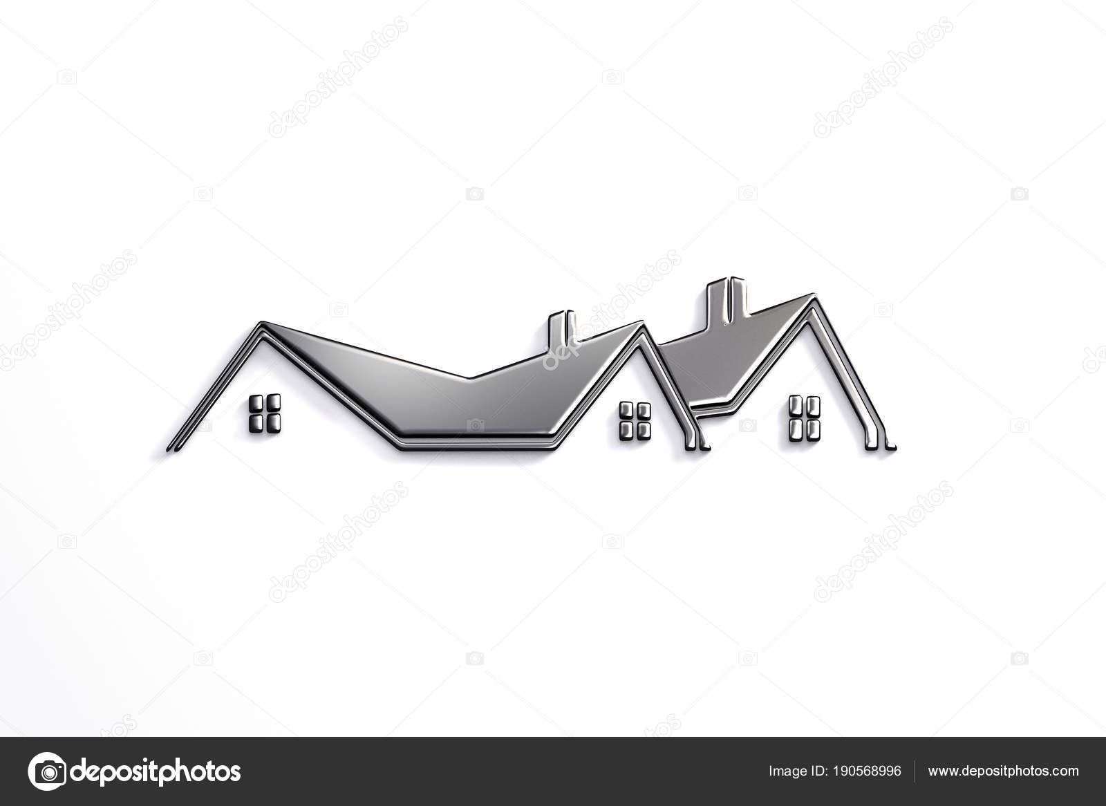 Apartments com logo clipart clipart free library Real Estate Silver Logo Design. 3D Rendering Illustration #estate ... clipart free library