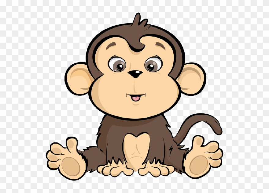 Ape cartoon clipart graphic transparent library Banner Free Library Ape Clipart Cute - Monkey Cartoon - Png Download ... graphic transparent library