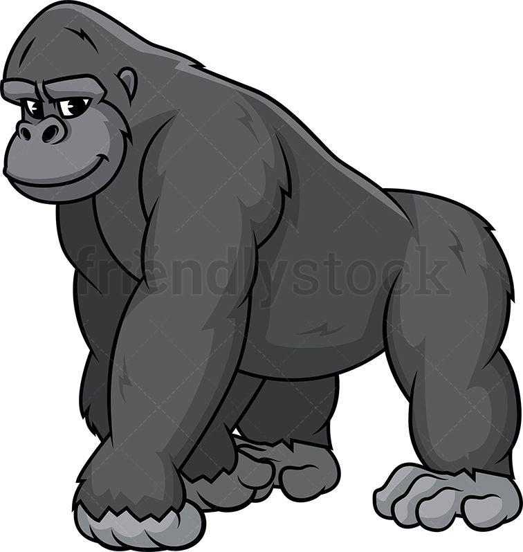 Ape cartoon clipart graphic library download Wild Gorilla | Clipart Of Animals | Clip art, Vector free, Illustration graphic library download