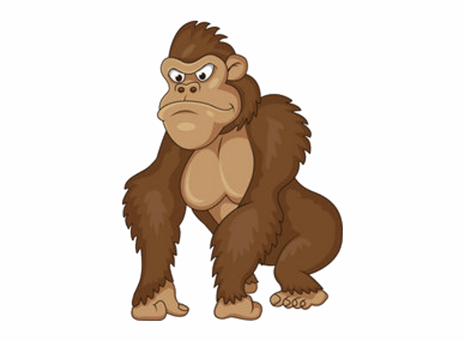 Ape cartoon clipart graphic royalty free stock Banner Free Download Ape Clipart Monke - Angry Gorillas Cartoon Free ... graphic royalty free stock