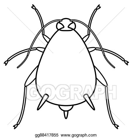 Aphid clipart image library stock Vector Illustration - Aphid contour insect. Stock Clip Art ... image library stock
