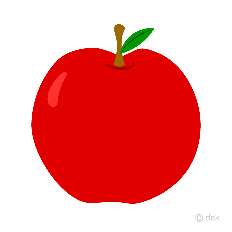 Cipple clipart graphic freeuse stock Simple Red Apple Clipart Free Picture|Illustoon graphic freeuse stock