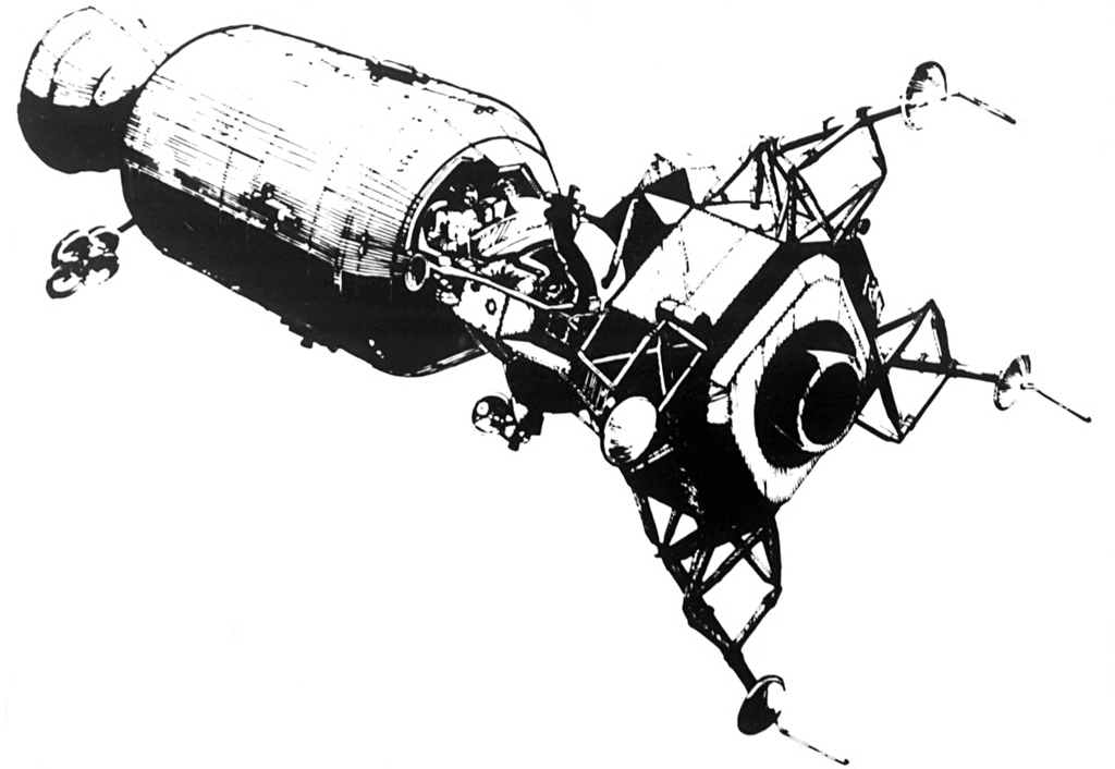 Apollo 11 ship clipart