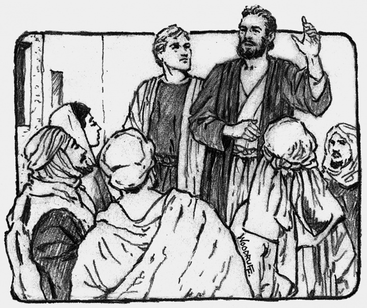Apostol following jesus clipart