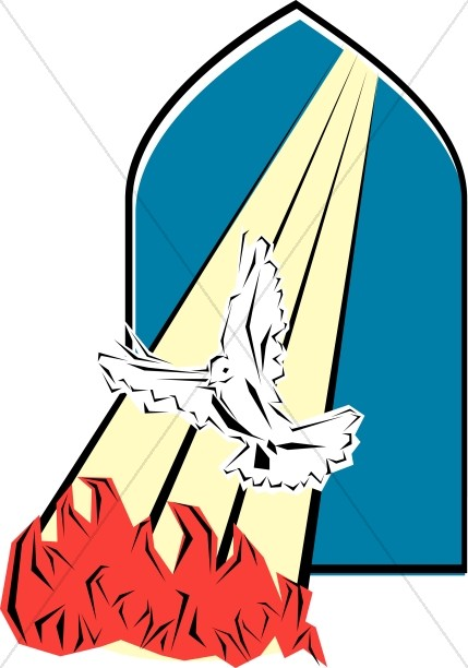 Apostles pentecost clipart clipart stock Holy Spirit Visits The Apostles on Pentecost | Pentecost Clipart clipart stock