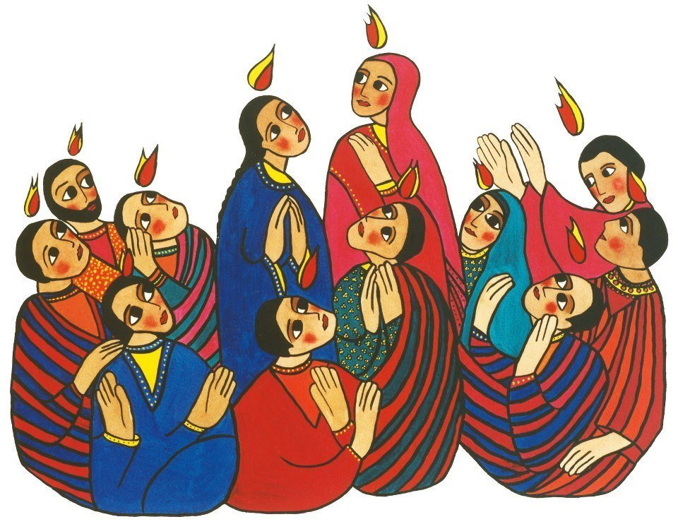 Apostles pentecost clipart image stock The Holy Spirit and Equality in the Book of Acts | Marg Mowczko image stock
