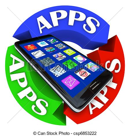 App clipart. Stock illustrations clip art