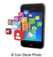 Stock illustrations clip art. App clipart