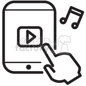 App clipart music picture black and white stock music app vector icon . Royalty-free icon # 398565 picture black and white stock