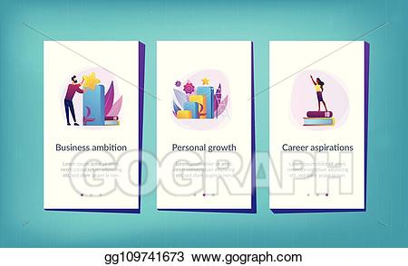 App interface clipart download Vector Art - On the way to success app interface template. Clipart ... download