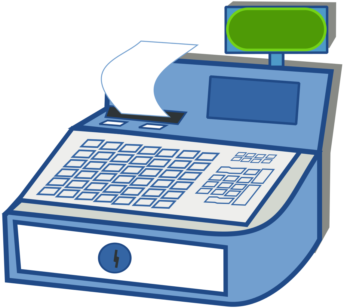 App money clipart jpg library File:CashRegister.svg - Wikimedia Commons jpg library