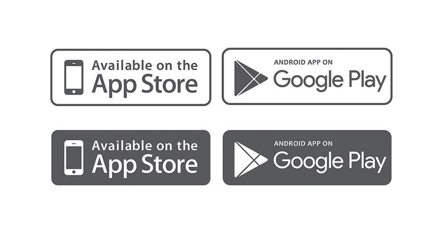 Available app store icon clipart