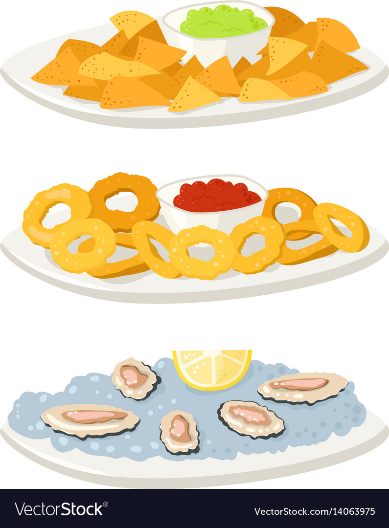 Appetizer buffet clipart png freeuse library Various oysters meat canape snacks appetizer chips png freeuse library