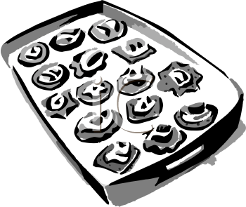 Appetizers and drinks clipart black and white clip art library stock Clip Art Picture of a Tray of Hors d\'Oeuvres - foodclipart.com clip art library stock