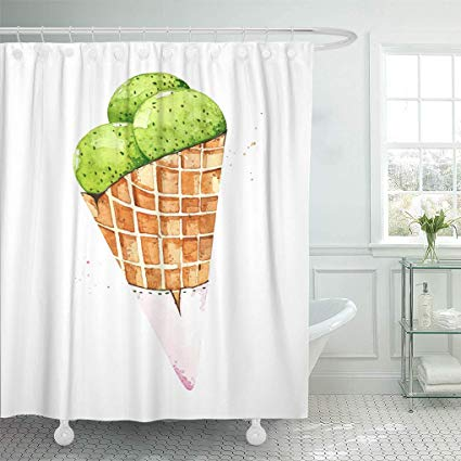 Appetizing clipart freeuse stock Amazon.com: Semtomn Shower Curtain Delicious Colorful Appetizing ... freeuse stock