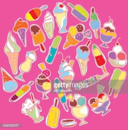 Appetizing clipart clipart library Circle of Varied Appetizing Ice Cream premium clipart - ClipartLogo.com clipart library