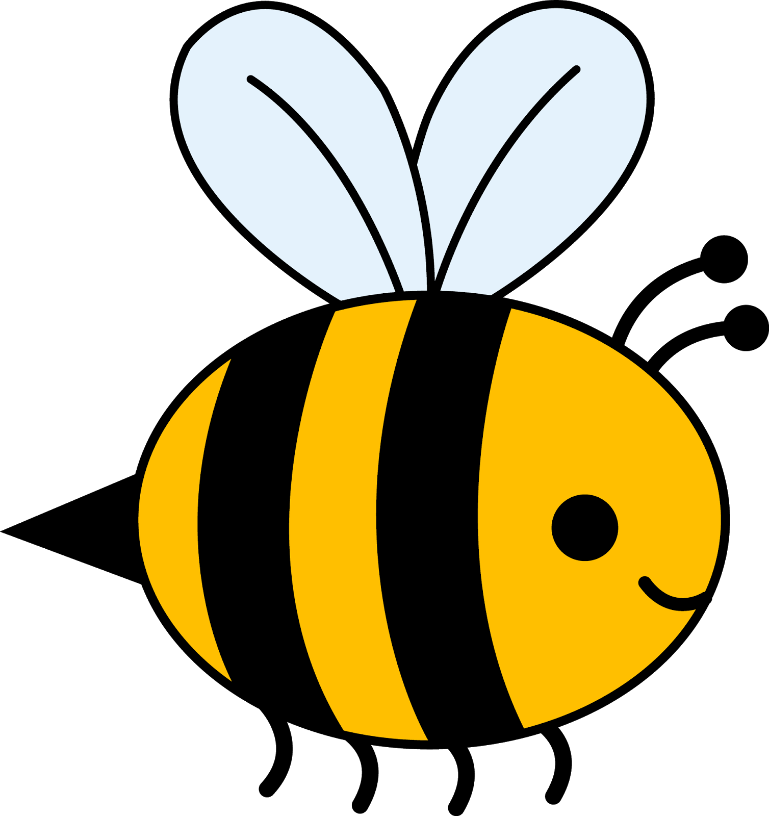 Bee with flower clipart image freeuse library Bee Clipart Black And White | Clipart Panda - Free Clipart Images ... image freeuse library